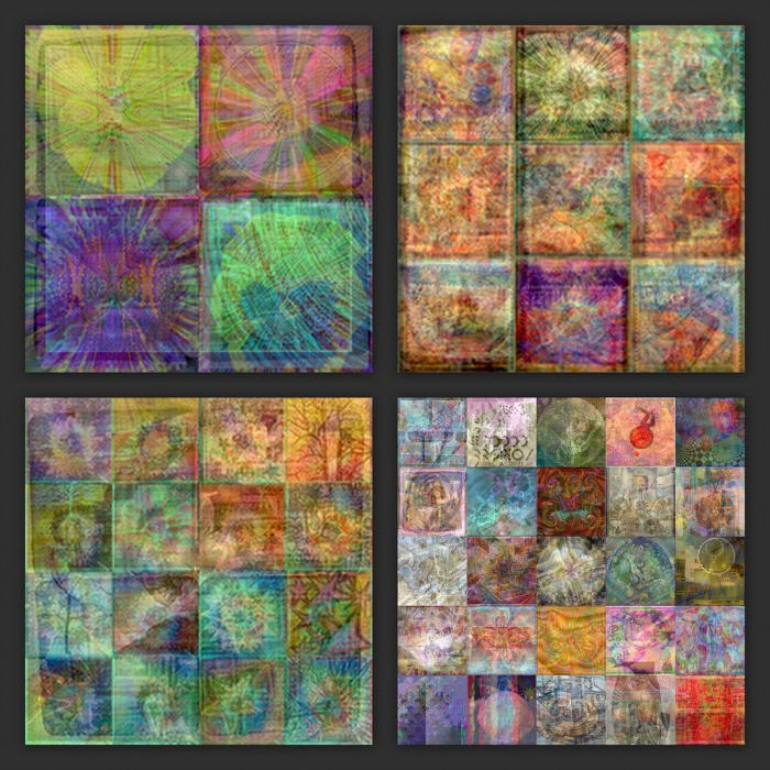 square grid blends