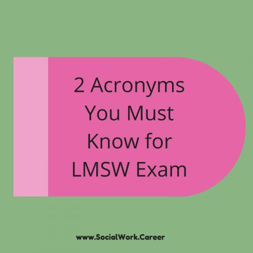LMSW Acronyms