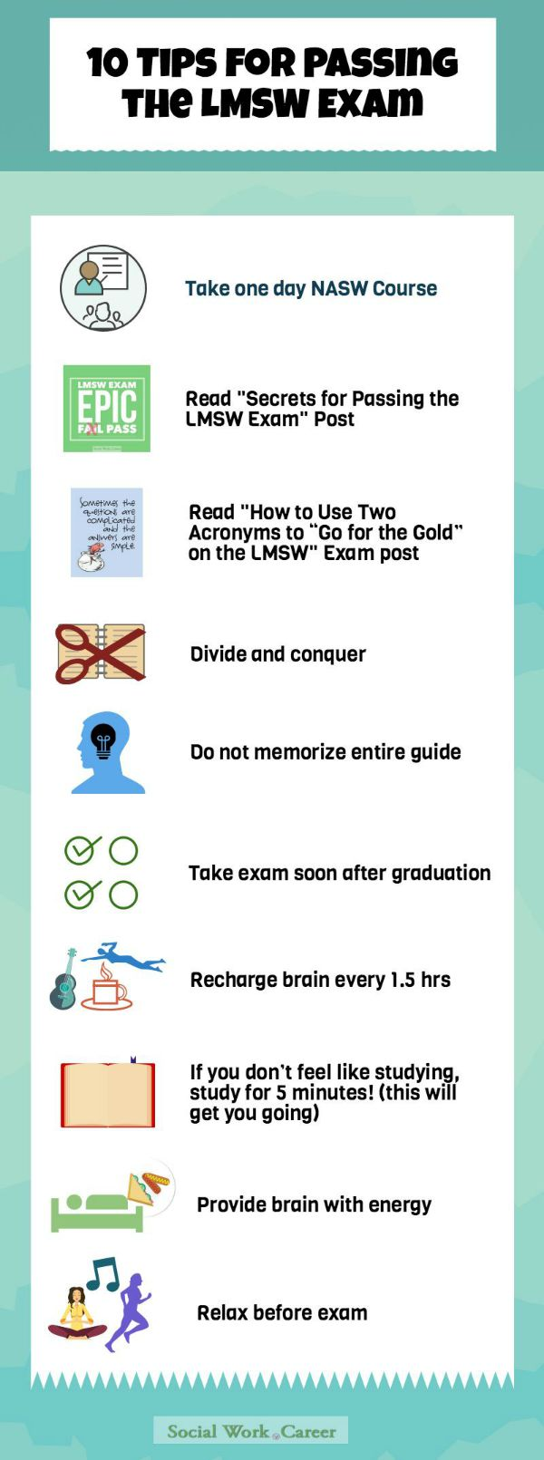 10 LMSW tips to pass exam 600