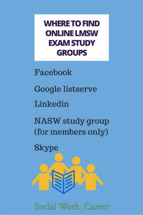 where to find online lmsw exam study groups s