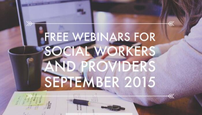 September webinars for social workers
