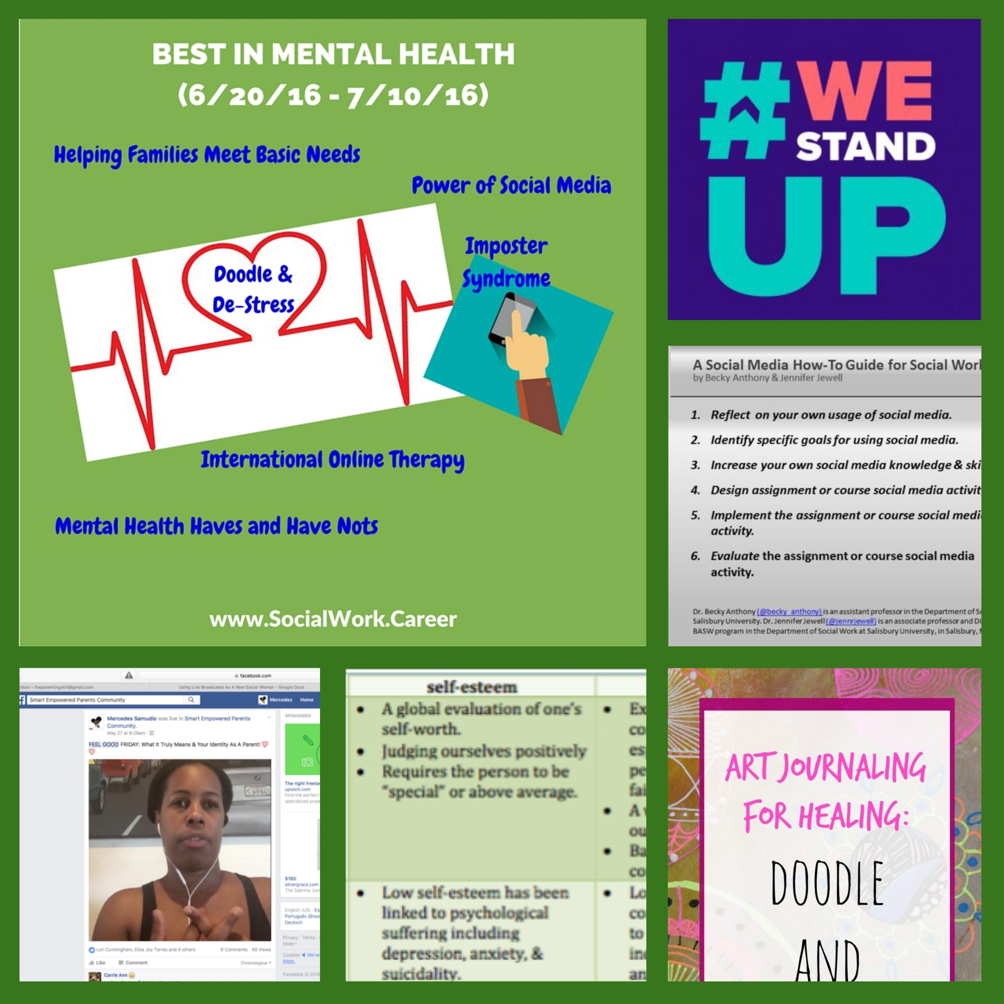 Best in Mental Health 6/20/16 - 7/10/16) < roundup from around the web covering the latest in social work, mental health, private practice & more