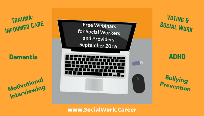Free Mental Health Webinars, September 2016
