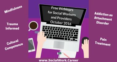 Free Mental Health Webinars, October 2016