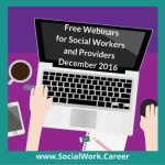 Free Mental Health Webinars, December 2016