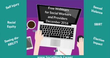 Free Mental Health Webinars, December 2016