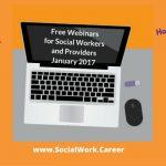 Free Mental Health Webinars, January 2017