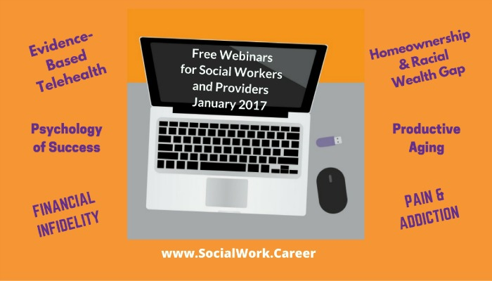 Free Mental Health Webinars, January 2017