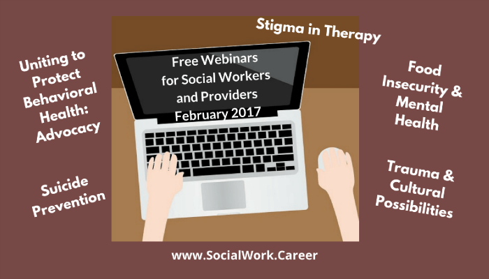Free Mental Health Webinars, February 2017