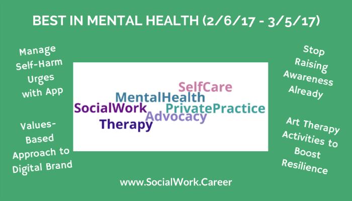 Best In Mental Health 2 6 17 3 5 17 Socialwork Career