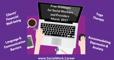 Free Mental Health Webinars, March 2017