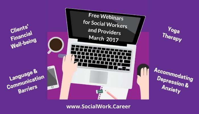 Free Mental Health Webinars, March 2017