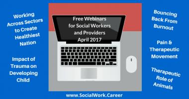 Free Mental Health Webinars, April 2017