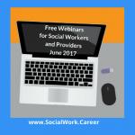 Free Mental Health Webinars, June 2017