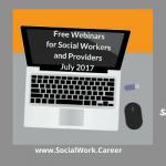 Free Mental Health Webinars, July 2017