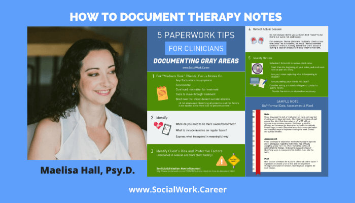 How to Document Therapy Notes
