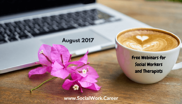 Free Mental Health Webinars, August 2017