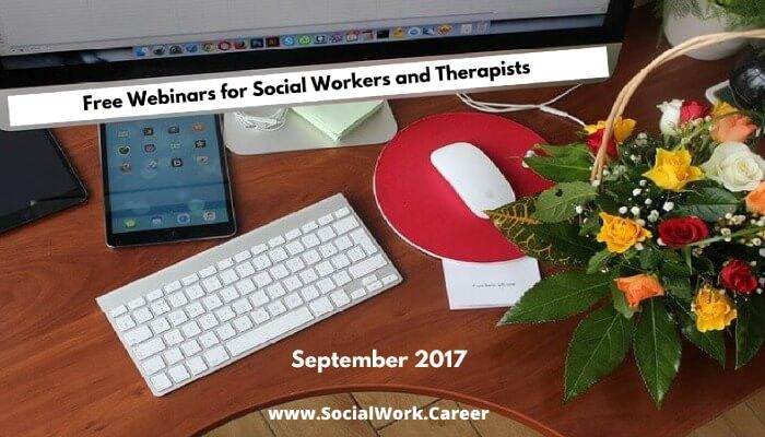 Free Mental Health Webinars, September 2017