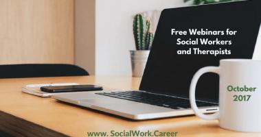 Free Mental Health Webinars, October 2017